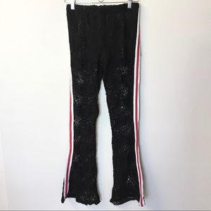 NWT Surf Gypsy Lace Flares with Side Stripes - L